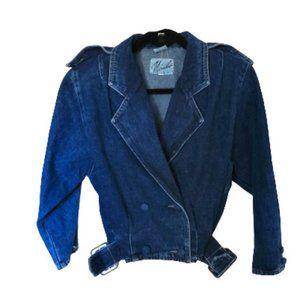 💥host pick💥 Vintage 80s denim crop jacket